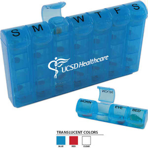 Custom Printed Compartment Med Minder Pill Boxes