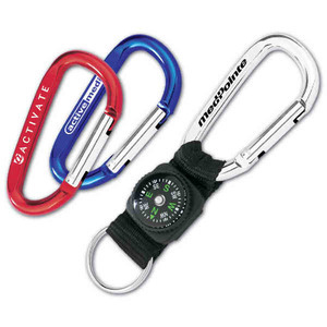 Custom Printed Compass and Lanyard Carabiners