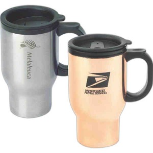 Copper Stainless Steel Travel Mugs, Custom Imprinted With Your Logo!
