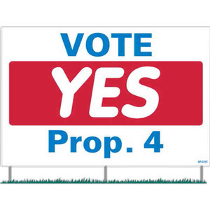 Corrugated Plastic Political Election Campaign Signs with Steel Rods, Custom Made With Your Logo!