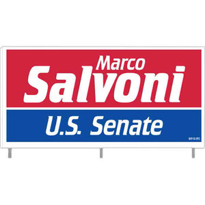 Custom Printed Corrugated Plastic Political Election Campaign Signs with Steel Rods