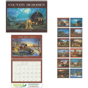 Custom Printed Country Memories Appointment Calendars