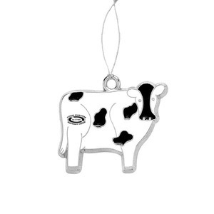Custom Imprinted Cow Plush Ornaments