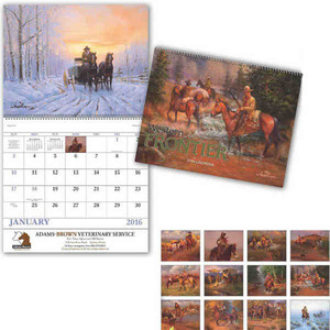 Custom Imprinted Cowboy Themed Calendars