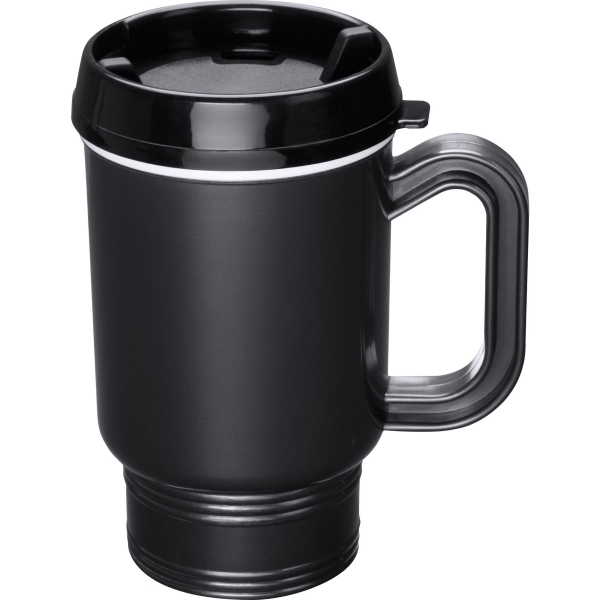 Dual Wall Insulated with Closer Lid Travel Mugs, Custom Imprinted With Your Logo!
