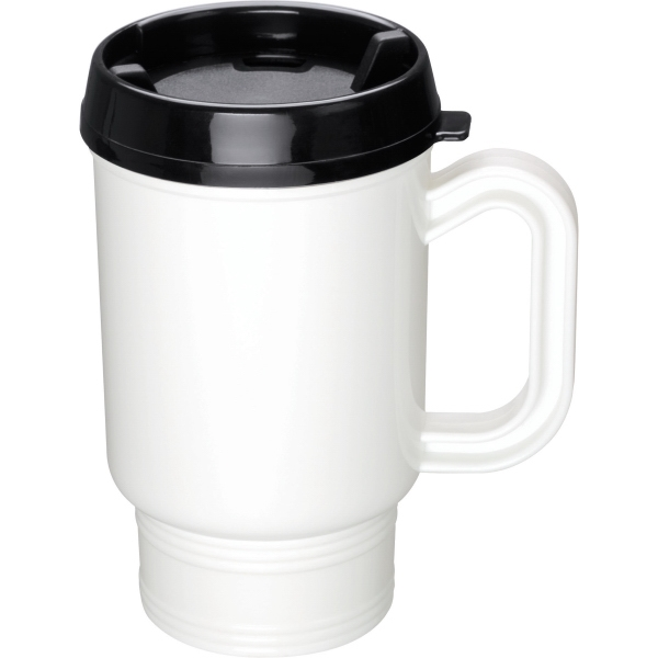 1 Day Service Travel Mugs with White Liners, Custom Printed With Your Logo!