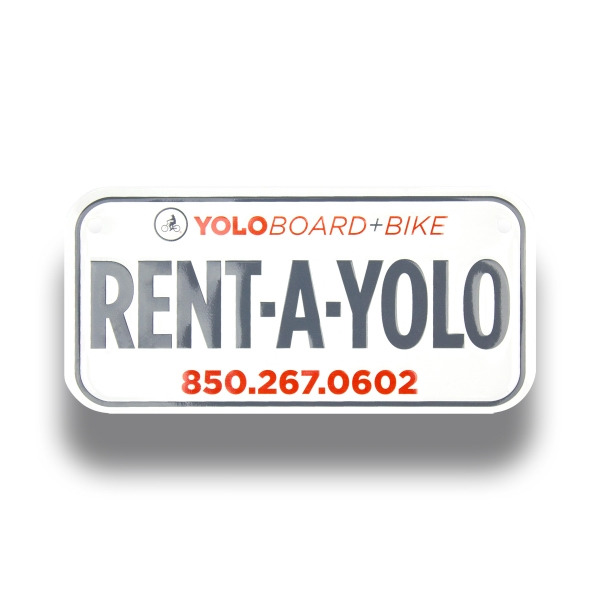 Custom Imprinted Bicycle Plates