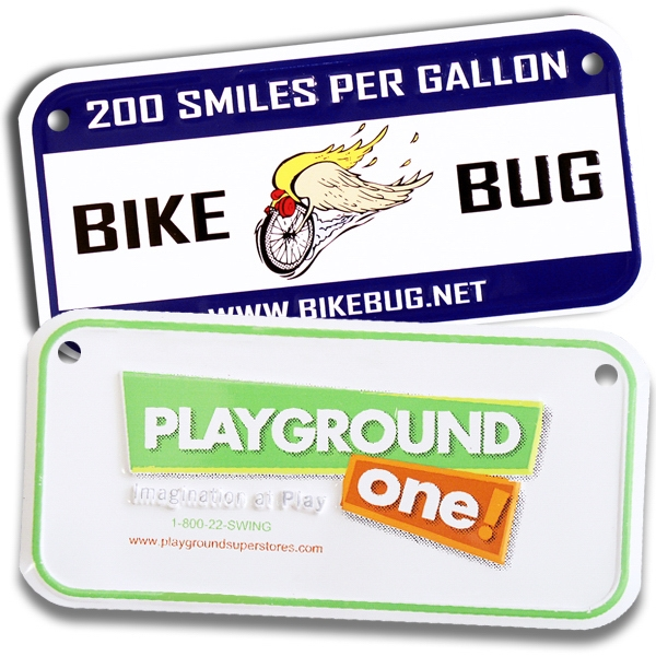 Bicycle Plates, Customized With Your Logo!