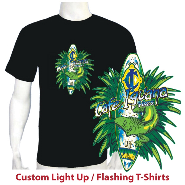 Custom Printed Flashing T-Shirts