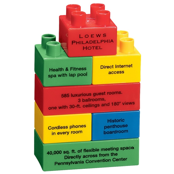 Custom Printed Tower Shaped Stock Promo Block Sets
