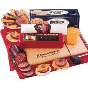 Custom Printed Delightful Perishable Cheese and Sausage Food Gifts