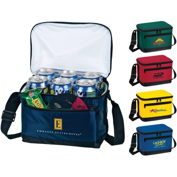 Custom Printed 1 Day Service 6 Pack Insulated Bags