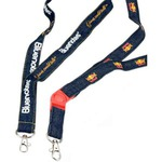 Custom Imprinted Denim Lanyards