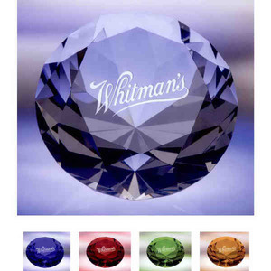 Custom Printed Diamond Paperweight Crystal Gifts