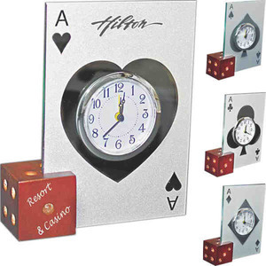 Custom Printed Dice Picture Frame Clocks