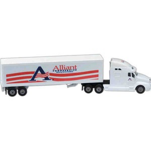 Custom Printed Die Cast Conventional Semis with Trailers
