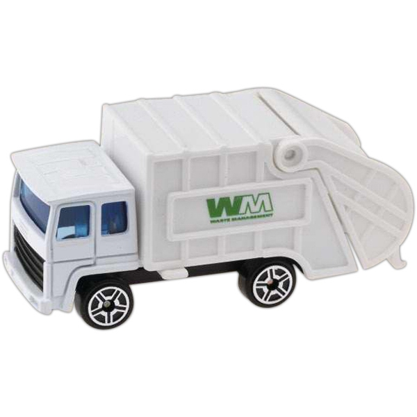 Custom Printed Die Cast Trash Trucks
