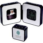 Custom Imprinted Digital Photo Frame Travel Alarm Clocks