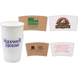 Custom Imprinted Small Kraft Insulated Coffee Cup Wraps