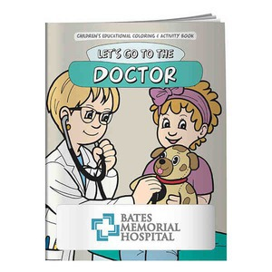 Custom Printed Doctors Office Themed Coloring Books