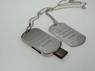 Custom Imprinted Dog Tag USB Flash Drives