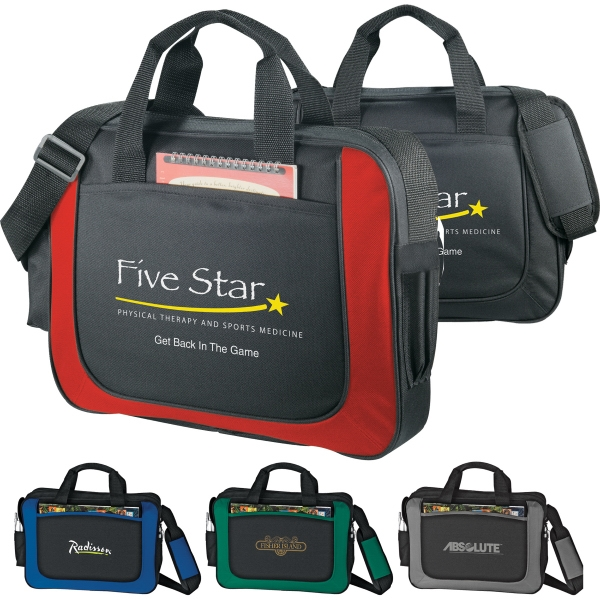 Custom Printed 1 Day Service Flexar Canvas Briefcases