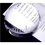 Custom Imprinted Dome Lead Crystal Paperweights