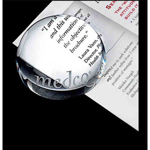 Custom Printed Dome Lead Crystal Paperweights