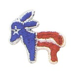 Custom Made Democratic Campaign Donkey Appliques