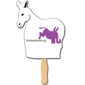 Custom Printed Democratic Campaign Donkey Fans