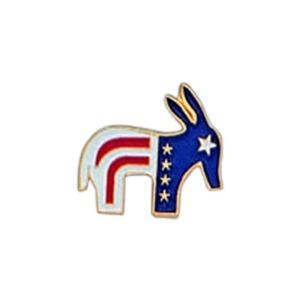 Custom Printed Donkey Shaped Pin