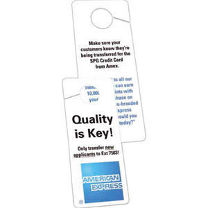 Door Hangers, Custom Made With Your Logo!
