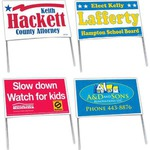 Personalized Double Sided Poly Bag Political Election Campaign Signs