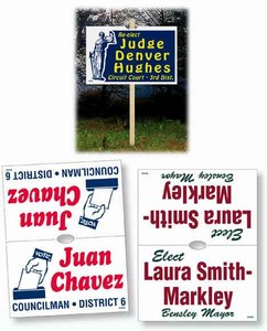 Custom Printed Double Sided Stake Political Election Campaign Signs