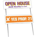 Custom Printed Double Sided Yard Political Election Campaign Signs and Folded Frames