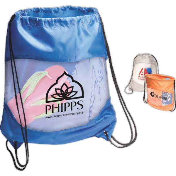Drawstring Backpacks, Custom Imprinted With Your Logo!