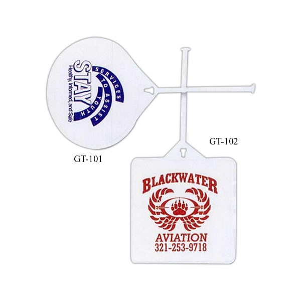 Custom Printed 3 Day Service Square Golf Bag Tags