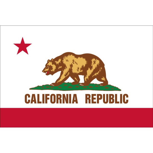 Custom Printed California State Flags