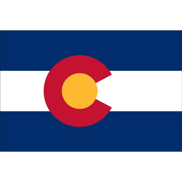 Custom Printed Colorado State Flags