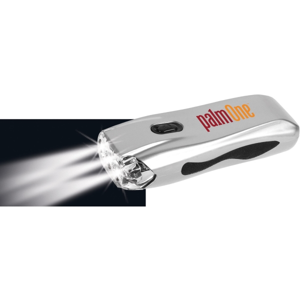 1 Day Service Emergency Wind Up Flashlights and Cell Phone Chargers, Custom Imprinted With Your Logo!
