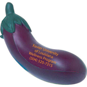 Custom Imprinted Eggplant Stress Relievers