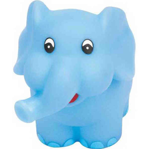 Custom Printed Elephant Squeaking Toy