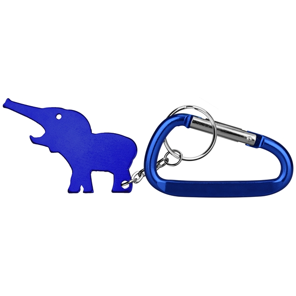 Elephant Shaped Key Chains, Custom Printed With Your Logo!