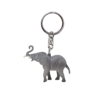 Custom Printed Elephant Shaped Key Chains