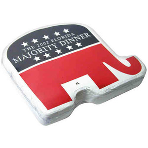 Custom Printed Republican Campaign Elephant Shaped T Shirts