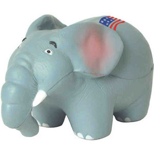 Custom Printed Republican Elephant Stress Relievers