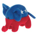 Custom Made Republican Campaign Elephant Stuffed Animals