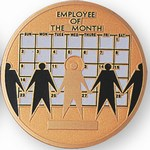 Custom Engraved Employee of the Month Emblems and Seals