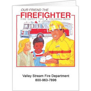 Custom Printed English Firefigher Coloring Books