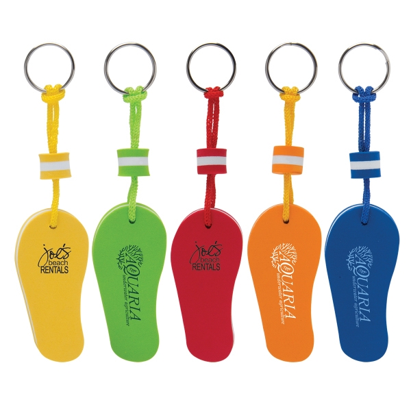 Custom Imprinted Flip Flop Key Tags